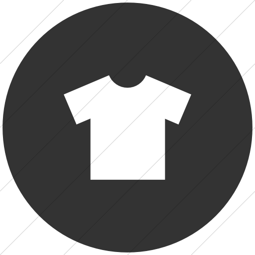 Flat Circle White On Dark Gray Raphael T Shirt Icon