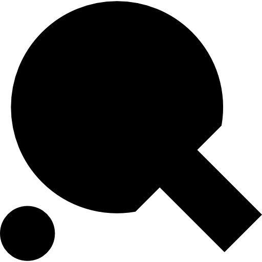 Table Tennis Racket And Ball Icons Free Download