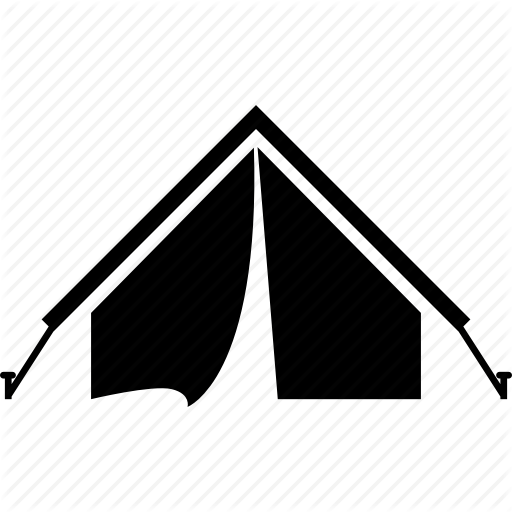 C Camping, Tent, Travel, Vacations Icon
