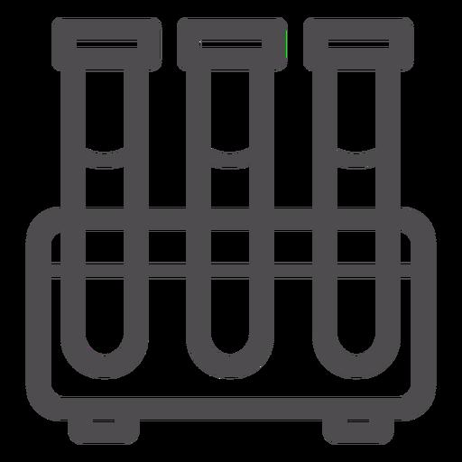 Test Tubes Stroke Icon