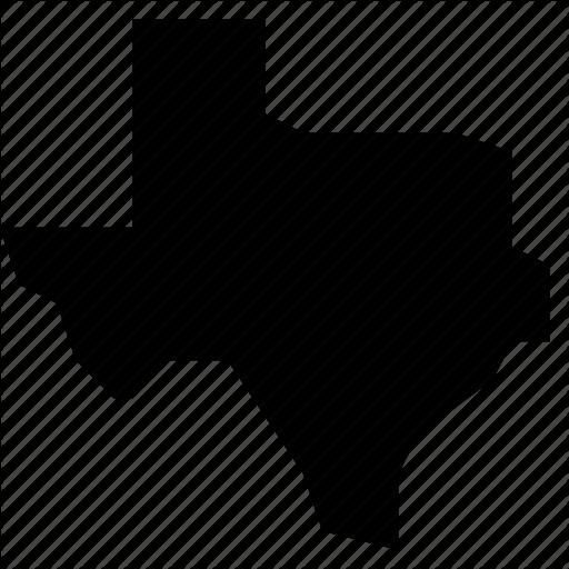 Map, State, States, Texas, United States, Usa Icon