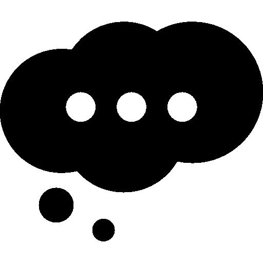 Cloud Speech Bubble With Ellipsis