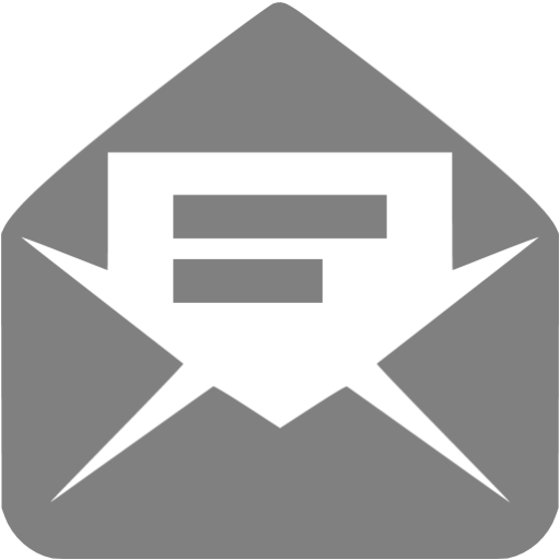 Gray Read Message Icon