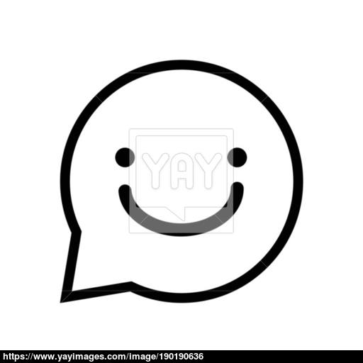 Chat Sign Smile Icon In Speech Bubble