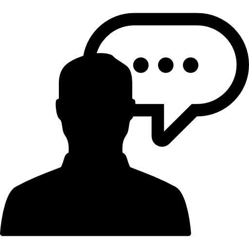 Man With Speech Bubble Icons Free Download