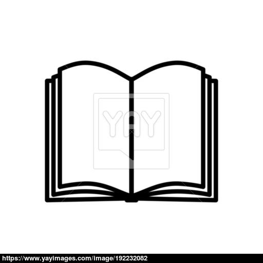 Book Icon Isolated On White Background Vector