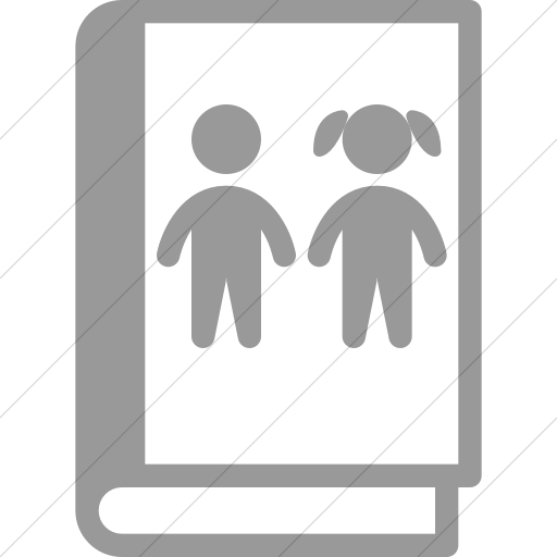 Simple Light Gray Iconathon Childrens Book Icon