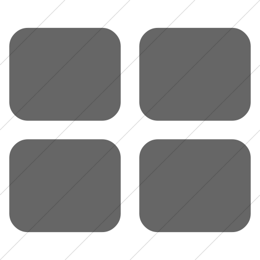 Simple Gray Bootstrap Font Awesome Th Large Icon