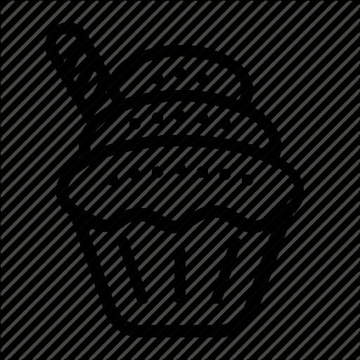 Cupcake, Dessert, Sweet, Thanksgiving Icon