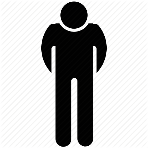 Man Standing, Men Silhouette, Person Bow, Thinking, Worried Man Icon