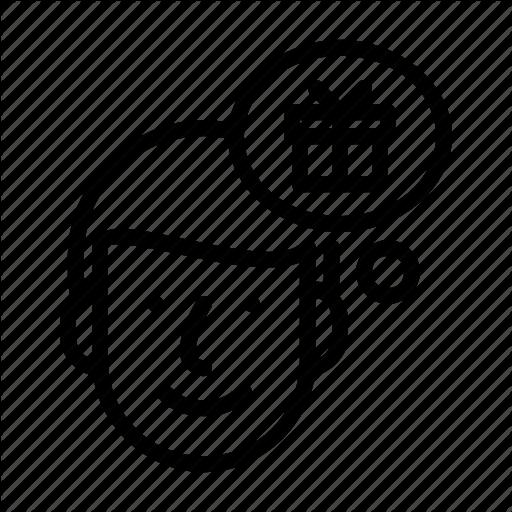 Boy, Face, Gift, Idea, Man, Person, Thinking Icon
