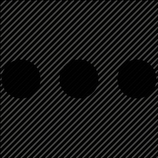 Aligned, Dots, Horizontal, Three Dots Icon