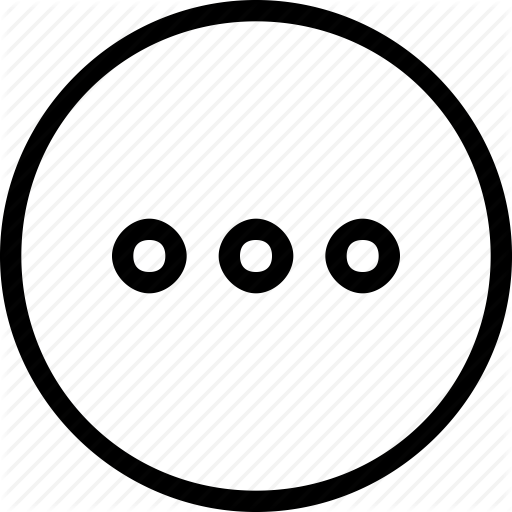 Circle, Dots, Frame, Horizontal, Menu, Navigation, Three Icon
