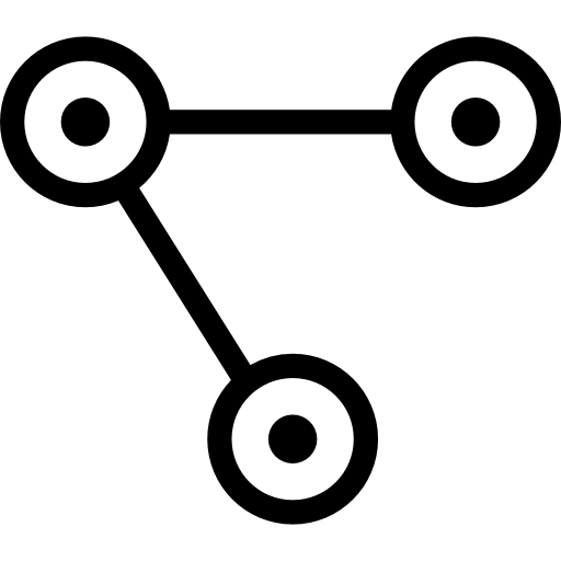 Interface Symbol Of Three Circles With Dots Inside Connected
