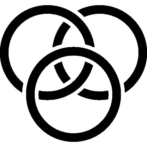 Three Circles Of Colors Interface Symbol