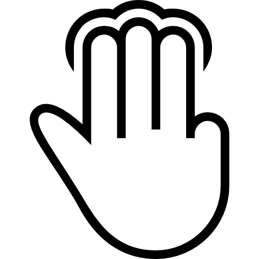 Three Fingers Tap Gesture Outline