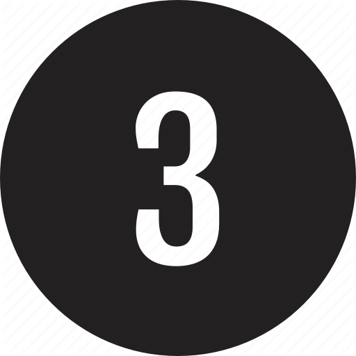 Count, Interface, Number, Three Icon