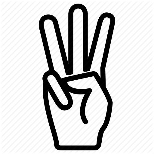 Expression, Fingers, Gesture, Hand, Three Icon