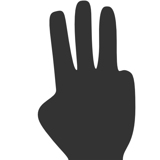 Fingers, Three Icon