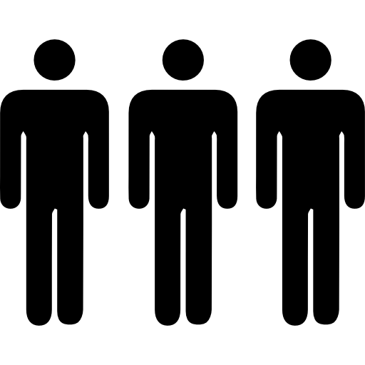 Three Persons Silhouettes