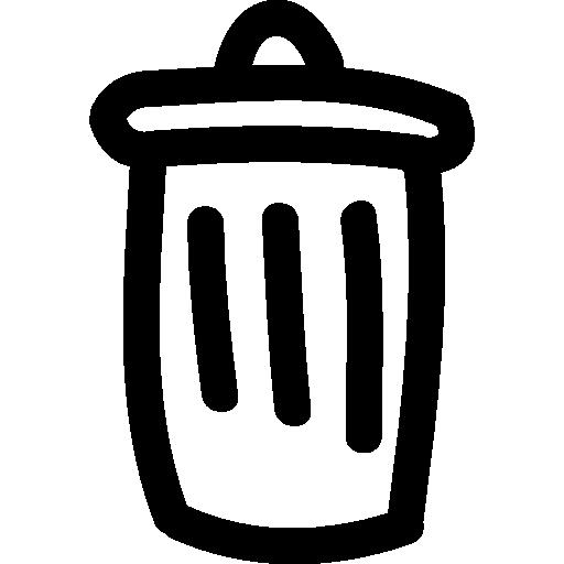 Trash Can Hand Drawn Symbol Icons Free Download