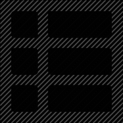 Grid, Layout, Thumbnail, Thumbnail List, Thumbs Icon