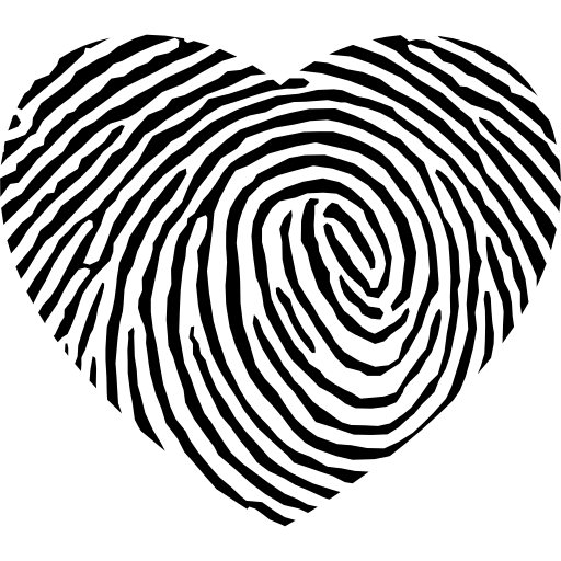 Fingerprint Heart Shape Icons Free Download