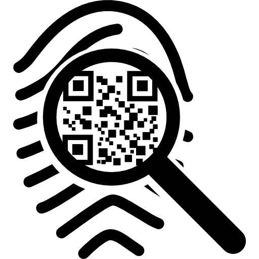 Qr Code Scanning On A Fingerprint Icons Free Download
