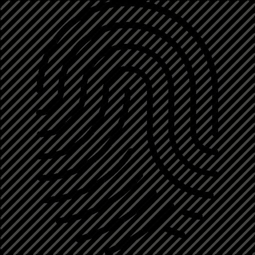 Biometric, Identification, Scanning, Sensor, Thumbprint Icon