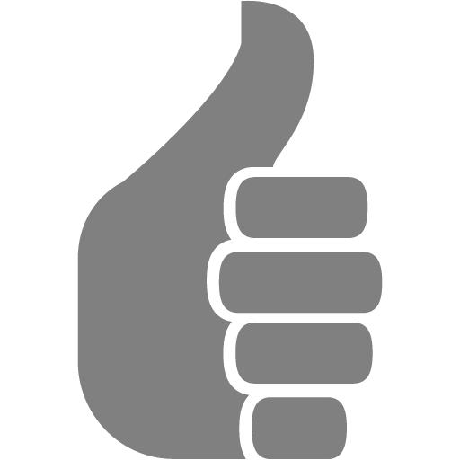 Gray Thumbs Up Icon