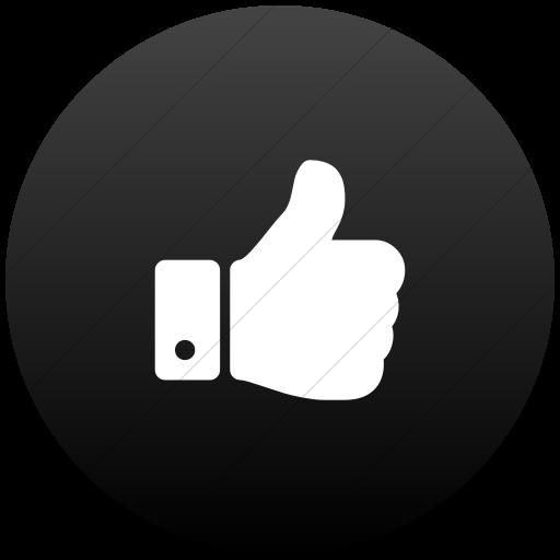 Flat Circle White On Black Gradient Bootstrap Font
