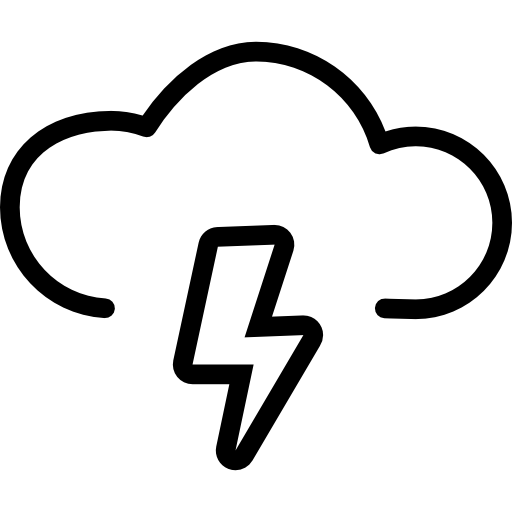 Electrical Storm Outlined Weather Sign Icons Free Download