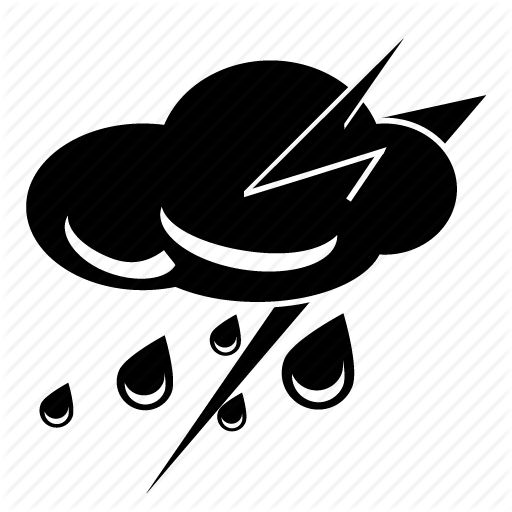 Thunderstorm Icon Weather Cloud