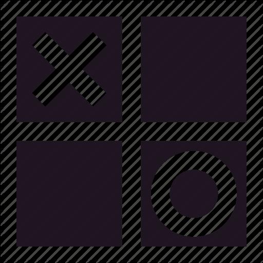 Game, Lose, O, Square, Tic Tac Toe, Win, X Icon
