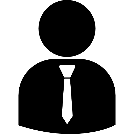 Business Person Silhouette Wearing Tie Icons Free Download