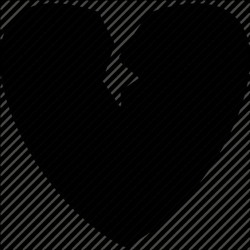 Broken, Divorce, Heart, Heartbroken, Sepration Icon