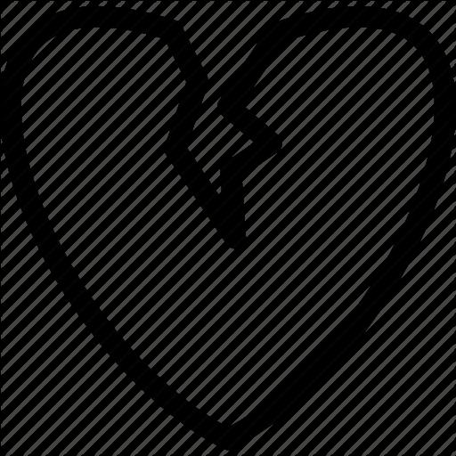 Broken Heart, Divorce, Heart, Separation Icon
