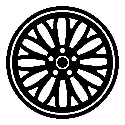 Ornamental, Rim, Wheel, Tyre, Transport, Tire Icon