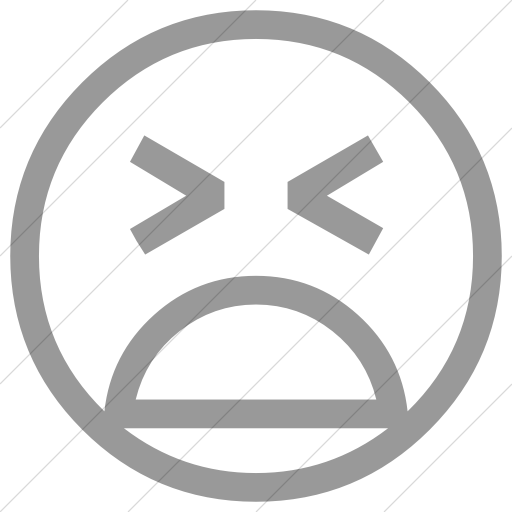 Simple Light Gray Classic Emoticons Tired Face Icon