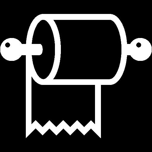 White Toilet Paper Icon