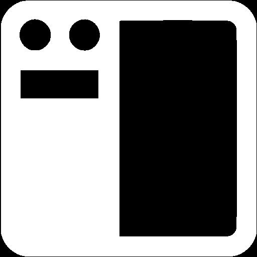 White Left Navigation Toolbar Icon