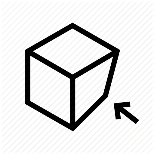 Bend, Box, Cube, Move, Pack, Top, Vertex Icon