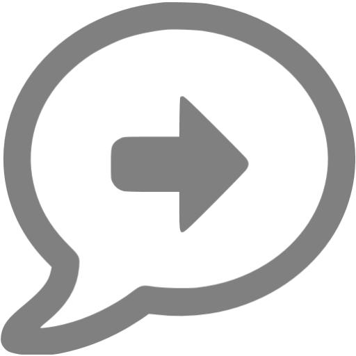 Gray Moved Topic Icon