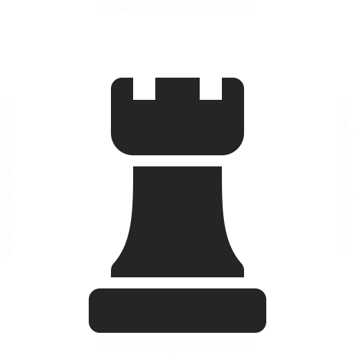 Chess Piece Rook Icon Iconexperience