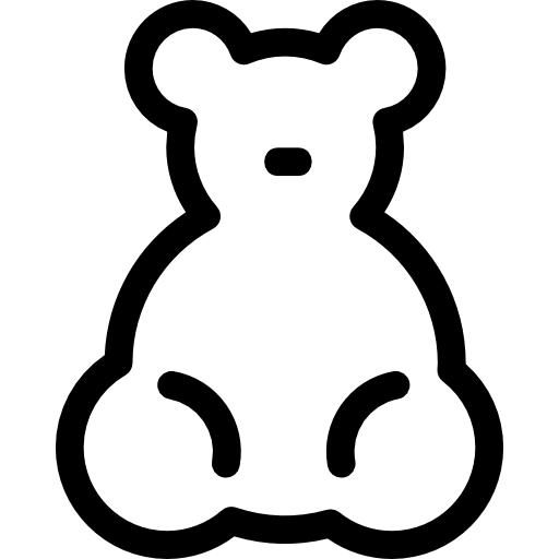 Baby Bear Toy Icons Free Download