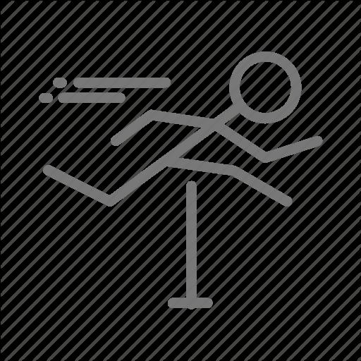 Athlete, Field, Hurdle, Hurdles, Jump, Run, Track Icon