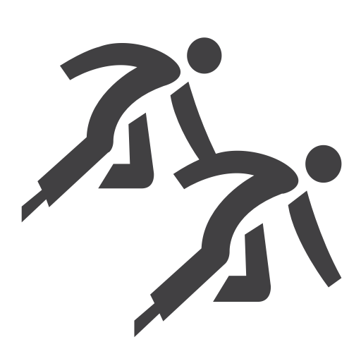 Olympic, Short, Skating, Speed, Track Icon