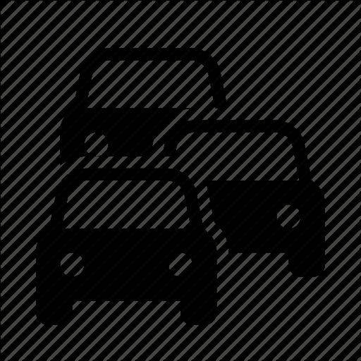 Auto, Congestion, Jam, Queue, Road, Traffic, Transport Icon