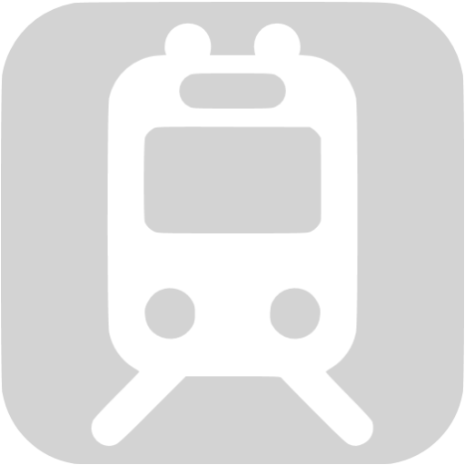 Light Gray Railway Station Icon
