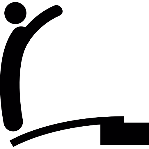 Silhouette Of A Man Standing On A Trampoline To Jump Icons Free